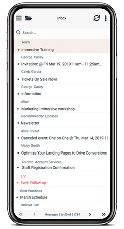 Mobile Email View